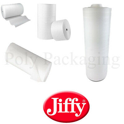 Jiffy Branded FOAM WRAP ROLL for Packing Wrapping Various Widths and Lengths
