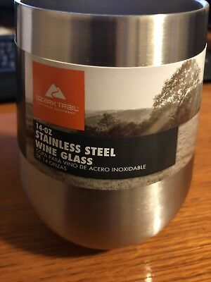New Stainless Steel Ozark Trail 14 OZ. Vacuum-Insulated  Wine Glass