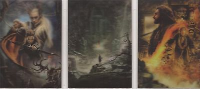 """The Hobbit Desolation of Smaug: """"Lenticular Posters"""" Set of 3 Chase Cards #KA5-7"""