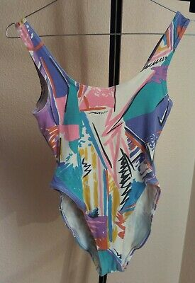 maillot de bain swim bathing suit leotard justaucorps GILDA MARX fitness beach S