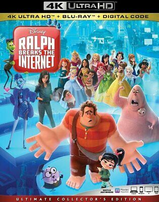 Ralph Breaks The Internet 4K Disk ONLY With Case, Cover & Slipcover