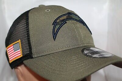 acbacb63 LOS ANGELES CHARGERS NFL New Era Camo Service Patch Snapback  9Twenty,Cap,Hat NEW