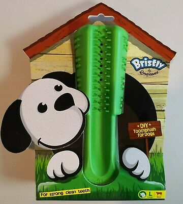 Bristly Large Brushing Stick Dog Toothbrush Chew Toy Teeth Oral Care Cleaning
