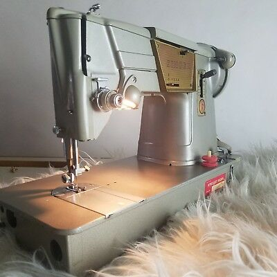 Vintage Singer 328K Sewing Machine Style-o-Matic Heavy Duty Upholstery