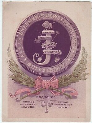 RARE Advertising Trade Card Brochure - Jewett Steel Range Stoves 1880 Buffalo NY