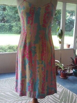 f299f555e1f3 LILLY PULITZER FLORAL slip dress and wrap/robe size 2 euc - $35.00 ...