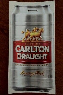 Carlton Draught Keg -  Vinyl Decal/Sticker 24 x 12cm.