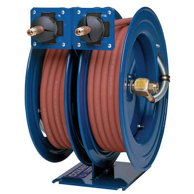 "Coxreels C-LP-425-425 1/2""x25 ft. Spring Driven Combo Air/Water Dual Reel w/Hose"