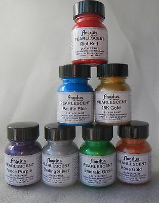 Angelus Pearlescent Leather Acrylic Paint 29 ml Assorted Colours