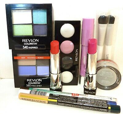 Mixed bulk pack x 10 Revlon  Eyeshadow Lipstick Eyeliner Lip balm