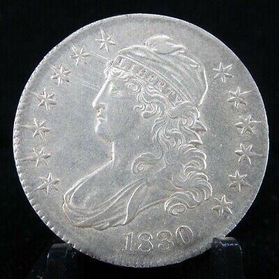 1830 Silver Capped Bust, Lettered Edge Half Dollar