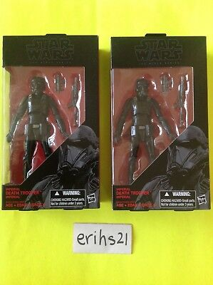 """(2) Star Wars Black series IMPERIAL DEATH TROOPER Hasbro 6"""" inch Rogue One NEW"""