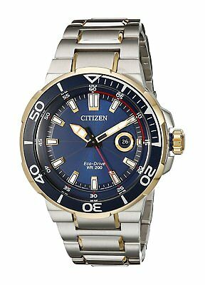Citizen Eco-Drive Men's Endeavor Blue Dial Two-Tone 45mm Watch AW1424-54L