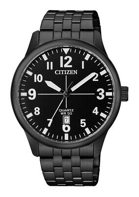 Citizen Men's Quartz Date Black Dial Black Bracelet 40mm Watch BI1055-52E