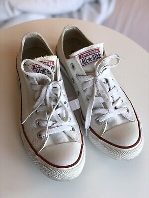 CONVERSE ALL STARS Leder Chucks weiss Gr. 45 , gay used