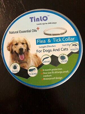 Tinlo Flea And Tick Collar Dog And Cats  8 Month Protection Large, Medium, Small
