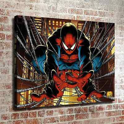 "12""x16""Spiderman Silking HD Canvas prints Painting Home decor Picture Wall art"