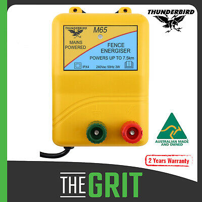 Thunderbird M65 7.5 km Mains Electric Fence Energiser Mains Powered Unit