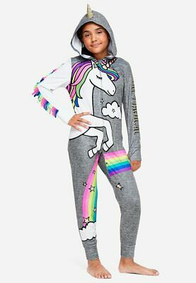 21248b746c NWT JUSTICE GIRLS Forever Dreaming Unicorn Romper Pajamas 10 12 14 ...