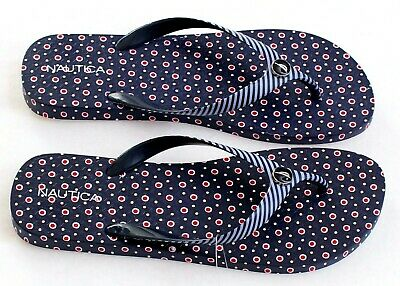 dce628f86a7 NAUTICA BLUE PATTERN Mainsheet 2 Thong Sandals Flip Flops Women s ...