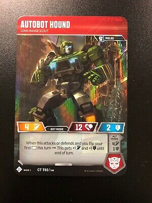 FOIL Autobot Hound Promo Card Transformers TCG GenCon 2018 IN HAND ccg