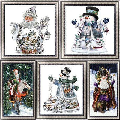 5D DIY Diamond Painting Embroidery Christmas Art Cross Crafts Stitch Home Decor