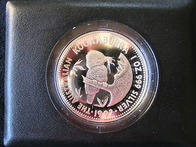 1992 Australian Kookaburra, Proof Issue, 1 Dollar Silver Coin