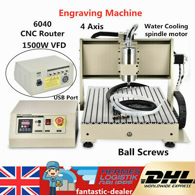 4 Axis 1500W 6040 CNC Router Engraver Wood PCB Milling Engraving Carving Machine