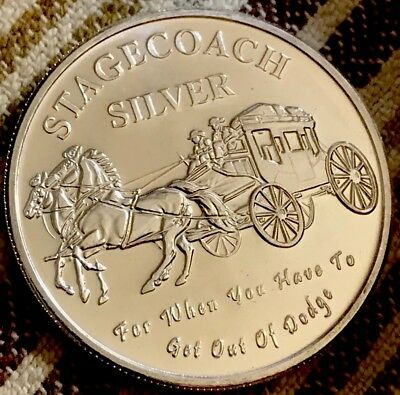 Stagecoach 1oz. .999 Silver Round 1/4th oz. Divisible Pieces (Mint)