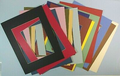 11x14 Mat Board 15 Pc Assorted Variety Color Size Precut Artist Craft Supply Art