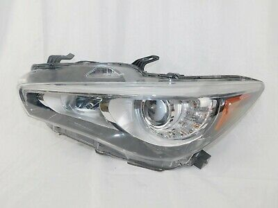 14 15 16 Infiniti Q50 Headlights LED Right + Left Set Pair NON-AFS