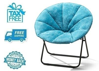 New Light Blue Plush Faux Fur Saucer Chair Soft Comfortable Lounger Seat Kids  sc 1 st  PicClick & NEW LIGHT BLUE Plush Faux Fur Saucer Chair Soft Comfortable Lounger ...