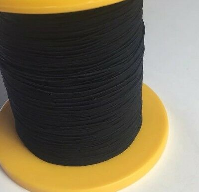 Bulk Black Shirring Smocking Elastic, Decoration, 1.4 Mm Polyester 300 Metres