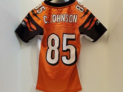 Wholesale REEBOK CINCINNATI BENGALS CHAD JOHNSON #85 NFL JERSEY youth Small  for cheap