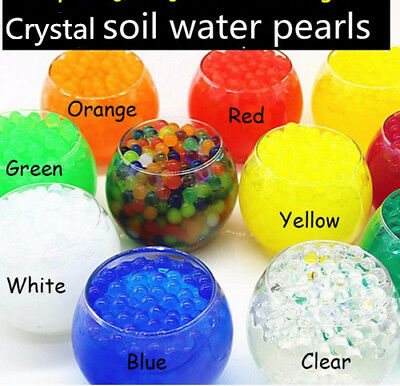 125g Water Crystal  Balls Jelly Gel Beads for Plants Orbeez Multi Color 13-15mm