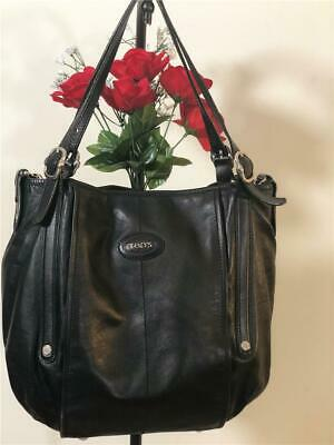 3520354c60 TOD'S G LINE Easy Sacca Black Leather Purse - $349.99 | PicClick