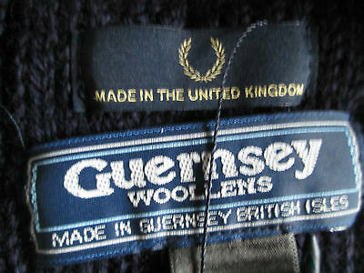 Rare Fred Perry UK, 100% Thick Lambswool, Guernsey Cable Knit Scarf