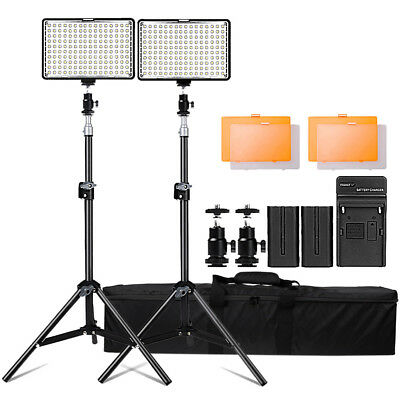 AU - 2Pcs/Set LED Video Studio Lighting with Light Stands For Photography Camera