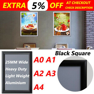 A0 A1 A2 A3 A4 PREMIUM Aluminum Snap poster frame Sign holder wall mount round