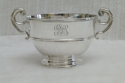 Antique Irish Silver Two Handle Footed Bowl West & Son Dublin Hallmarked 1909
