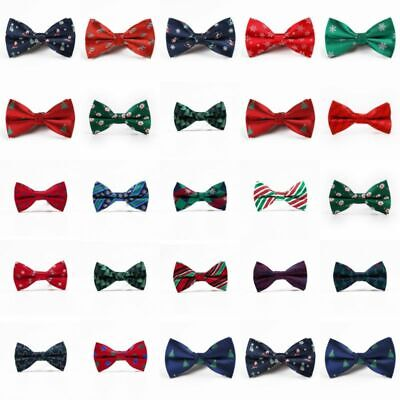 Adjustable Festival Lovely Christmas Men Tie Bowtie Novelty Bow Gift Necktie