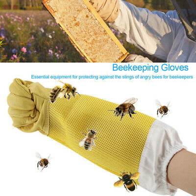 XL Beekeeping Gloves Goatskin Bee Keeping with Vented Beekeeper Long Sleeves BE