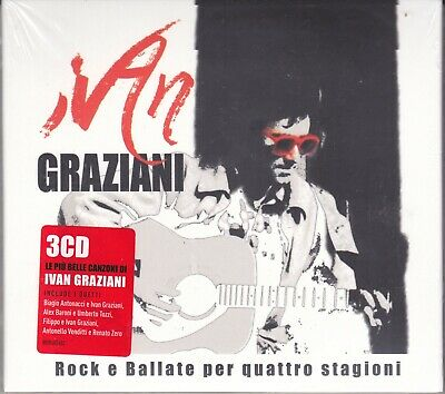 3 CD Box Set IVAN GRAZIANI • ROCK BALLATE PER QUATTRO STAGIONI successi the best