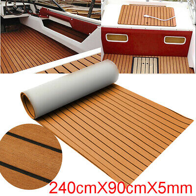Teak Deck EVA Foam Boat Sheet Yacht Synthetic Decor 35'' X 94'' 5MM Thick