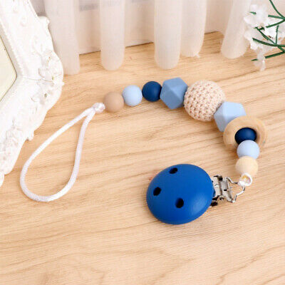 New Baby Dummy Clip Holder Pacifier Clips Soother Chains Bead Teething N7