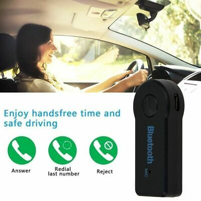 Mini Wireless Bluetooth Car Kit 3.5mm Dongle Jack Aux Audio Receiver Adapter **
