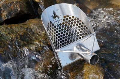 """SITO- 170mm (6.75"""") Wide (Hexagonal Holes) Stainless Steel Beach Sand Scoop"""