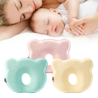 UK Baby Prevent Flat Head Cot Pillow Infant Memory Foam Sleeping Support Cushion