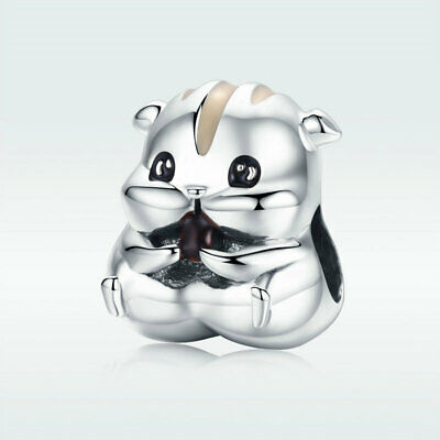 Hamster 925 Sterling Silver Charms Women Jewelry Pendant Fit Chain Bracelet Gift