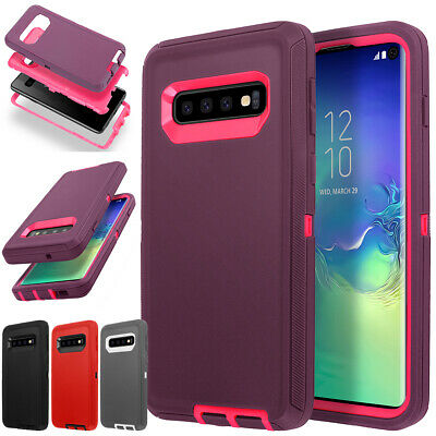 Samsung Galaxy S10+ S10e Case Shockproof Hybrid Rubber Heavy Armor Rugged Cover